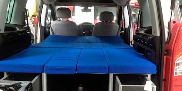 Camperización asientos cama